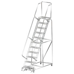 Ballymore Rolling Ladder Capacity 450 Lb Height 143 In. Stainless Steel