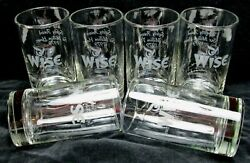 6 Wise Foods Potato Chips Glass Highball Tumblers Made By Libbey Usa 1979