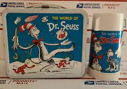 The World Of Vintage 1960 Metal Lunch Box W/thermos Ex Cond Nice