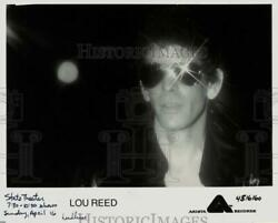 1978 Press Photo Lou Reed Will Appear In Concert At The State Theater,