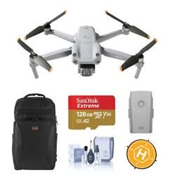 Dji Air 2s 4k Drone With Extra Battery, Backpack, 128gb Card Accessories