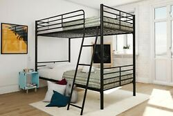 New Mainstays Bunk Beds Twin-over-twin Black Convertible Metal Frame For Kids