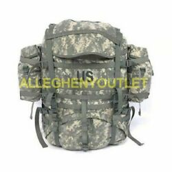 U.s. Military Molle Ii Acu Field Pack Backpack W/ 2 Sustainment Pouches Vgc