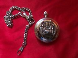 Franklin Mint Harley Davidson Wings Of Glory Eagle Pocket Watch Parts C30