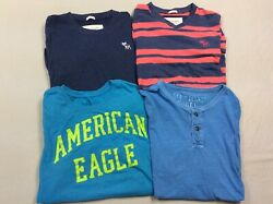 Lot Of 4 American Eagle Abercrombie And Fitch T-shirts Mens Size Xl Muscle Vintage