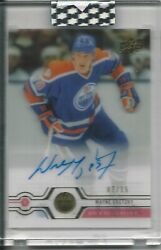 2019-20 Ud Clear Cut Wayne Gretzky Exclusives Signature Auto / 15 Oilers