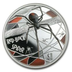 Tuvalu 2006 1 Deadly And Dangerous Redback Spider 1oz Silver Proof Coin Coa