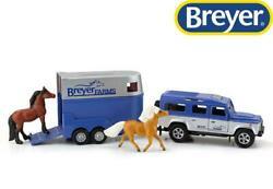 New Breyer Land Rover And Tag-a-long Horse Trailer Stablemates 132 - 59216