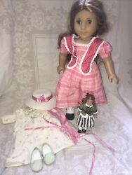American Girl Doll Marie-grace, Outfit And Accessories Plus Mini Doll