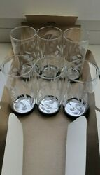 Crystal Set Of Chic Glasses With Cupronickel Bottom Of 6 Pcs. In The Native Pack