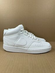 Nike Court Vision Mid Womenandrsquos Size 7.5 Cd5436-100 In Hand Free Shipping