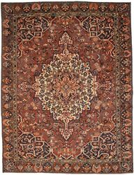10x13 Semi Antique Brick Red Wool Oriental Rug Vintage Farmhouse Carpet 9and0396x12and0396
