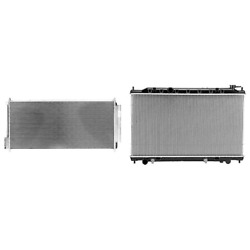 A/c Condenser And Radiator Kit For 2002-2006 Nissan Altima