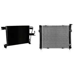 A/c Condenser And Radiator Kit For 1993-1997 Jeep Grand Cherokee