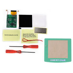 Teal Green Glowing Lens Q5 Screen Ips Backlight Lcd Mod Kit W/shell Case For Gbc
