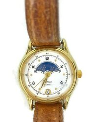 Vintage Timex Moon Phase Calendar Ladies Watch - Leather Band - 364t Cell