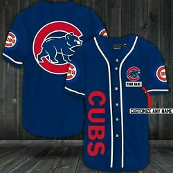 Custom Name Chicago Cubs All Over Print Personalized Baseball Jersey Size S-4xl