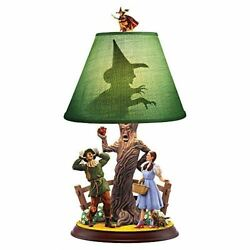 The Bradford Exchange The Wizard Of Oz Dorothy And Scarecrow Lamp 18-inches
