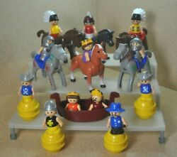 Lot of 23 Vintage Shelcore Little People amp; Horses