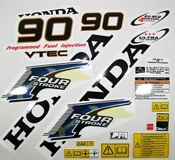 Decal Set Honda Bf 90 D V-tec Outboard Kit Stickers For Cowling 63100-zy9-010zb