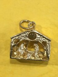 14k Yellow Gold Nativity Scene Depicting The Traditional Imagery Of Christ Birth