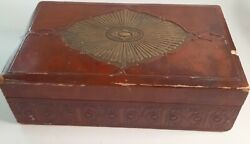 Vintage Cigar Box Antique Smith Converted Into Jewelry Box Very Rare 11.5
