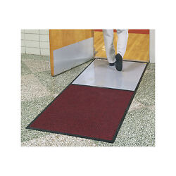 Clean Stride Cleated Contamination Control Mat- Med Gray, 36.5in. X 92.5in.