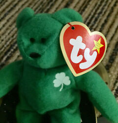 Erin-beanie Baby Plush Toy Ty Vintage Retired With Errors