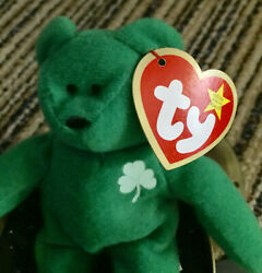 Erin-beanie Baby Plush Toy, Ty, Vintage, Retired, With Errors