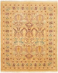 Vintage Hand-knotted Carpet 8and0391 X 9and03910 Traditional Oriental Wool Area Rug