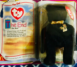 The End -the Bear, Beanie Baby Plush Toy, Ty, Vintage, Retired, With Errors