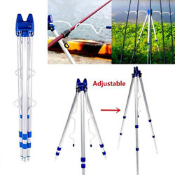 Telescopic Fishing Rods Holder Collapsible Tripod Stand Fishing Pole Bracket Us