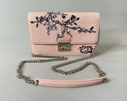 Christian Dior Promenade Crossbody Bag Chain Flap Sequins Floral Limited
