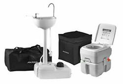 Alpcour Portable Toilet W/portable Camping Sink Andndash Indoor/outdoor Travel