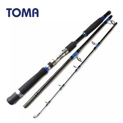 Toma Fast Action Boat Spinning Fishing Rod Jigging Carbon Fiber Max Power 20kg