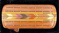 🔥 Custom Rosewood And Exotic Natural Hardwoods Cribbage Board With Case -sb