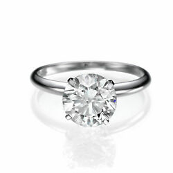 1 Ct Solitaire Diamond Engagement Ring Round Cut F/si1 18k White Gold