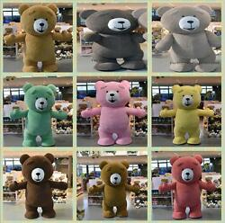 Halloween Inflatable Teddy Bear Plush Mascot Costume Party Game Dress Adult Size