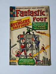 Fantastic Four 26 Classic Avengers And Hulk Cover See Photos For Grade 25