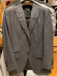 Tom Ford Grey Hounds Tooth Suit Size 50r