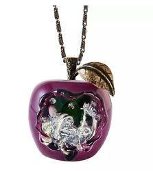 Disney Official Snow White Queen Necklace Poison Apple From Jpn New