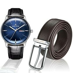 Reef Tiger Classic Heritor Wristwatch Menandrsquos Automatic Watch Free Leather Belt