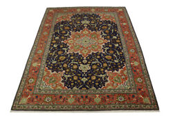 Hand Knotted Classic Design 8x12 Vintage Rare Oriental Rug Wool Decor Carpet