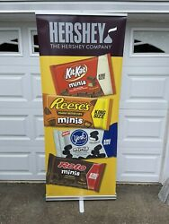 hershey's Chocolate Kisses Reeses York Peppermint Candy Retractable Banner Sign