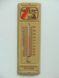 Vintage Dog Cat Sign Pet Vet Dads 50th Grooming Boarding Food Family Thermometer