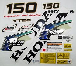 Decal Set Kit Honda Bf 150 Outboard Stickers For Cowl 63100-zy6-030za 2004-2007