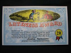 1964 Topps, Nutty Awards, 20 Lateness Award - Excellent Condition