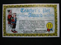 1964 Topps, Nutty Awards, 22 Teacher's Pet Award. - Excellent Condition