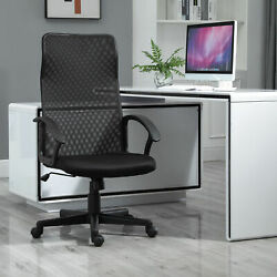 Executive High Mesh Back Office Chair W/ Fixed Armrests Adjustable Height
