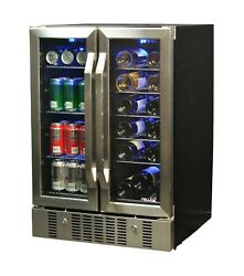 18-bottle And 60-can Dual Zone Built-in Compressor Wine And Beverage Refrigerator